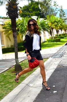 Make it New  rippedshorts_black_embroidered_boho_red_rapsodia_adolfodominguez