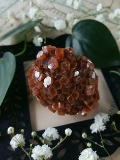 Aragonite Cluster  Aragonite Star Cluster  Red by bionicunicorn
