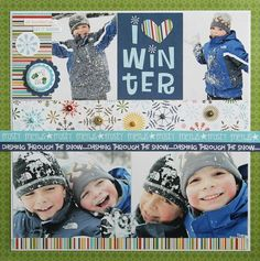 Nice layout. I always like color in a winter page.