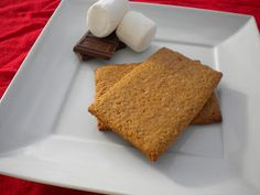 "I guess you'd call this a ""serving suggestion""   One of my favorite cookies/crackers is a graham cracker. I love their honey taste and that they are a canvas for a multitude of snacks and desserts. If you hadn't noticed, it's creeping awfully close to holiday baking time, so I'm trying to get a jump... Read More »"