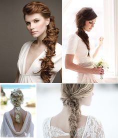 Messy braids give an ethereal laid-back vibe, perfect for any outdoor wedding