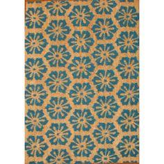 Cocoa Matting Blue Burst Tan Door Mat (16 x 24) $25.99