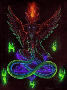 Flames of Wisdom - Baphomet by technopygmalion.deviantart.com