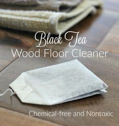 Look for a safe, effective way to clean your hardwood floors? Try this nontoxic black tea wood floor cleaner!