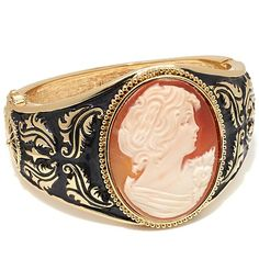 "AMEDEO NYC® ""Dipinto"" Cameo Enamel Bangle Bracelet"