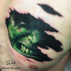 Hulk Tattoo hulk face tattoo under skin 3d Tattoos For Men, Tattoos 3d, Body Art Tattoos, Sleeve Tattoos, Cool Tattoos, Tattoo Ink, Hulk Tattoo, Marvel Tattoos, Tattoo Ideas
