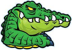 Alligator Mascot vector art illustration