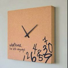 The only real clock in my life. Always late...