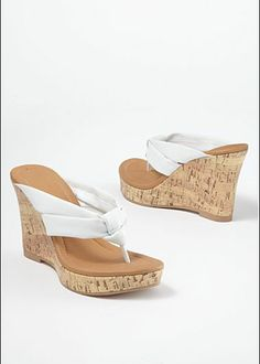 Thong Wedge Sandal from VENUS women's swimwear and sexy clothing. Order Thong Wedge Sandal for women from the online catalog or Cute Sandals, Cute Shoes, Wedge Sandals, Wedge Shoes, Womens Shoes Wedges, Wedges Outfit, Women's Shoes, White Wedges, Fashion Shoes