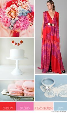 Color Palette: Cherry, Orchid, Peach Blush and Sky