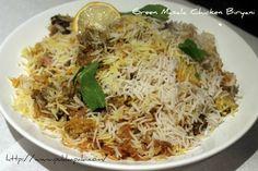 Green Masala Chicken* Biryani - Featured on Madhur Jaffrey's Curry Nation tv show