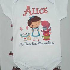 """Body baby - """"Alice no País da Maravilhas"""" 💟️ Personalize com sua estampa!! ▫ Para maiores informações entrar em contato via WhatsApp… Body, Onesies, Alice, Clothes, Instagram, Stamping, Outfits, Clothing, Kleding"""
