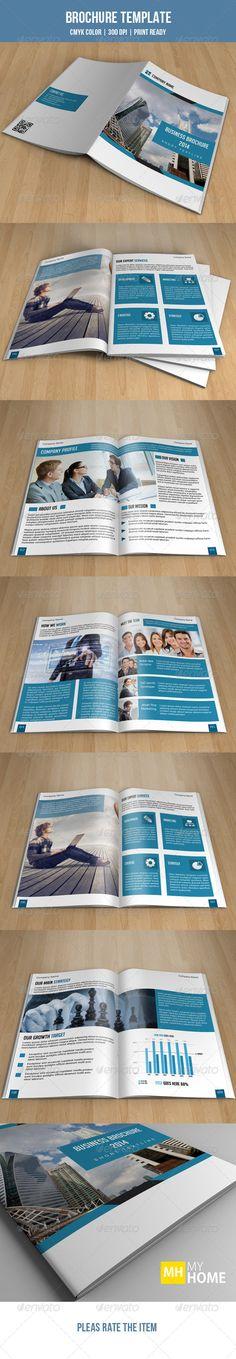 Bifold Business Brochure-V94 - Corporate #Brochures Download here: https://graphicriver.net/item/bifold-business-brochurev94/8279683?ref=classicdesignp