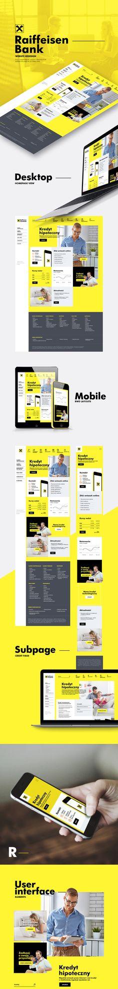 Responsive website design for Raiffeisen Bank// ljackiewicz@gmail.com