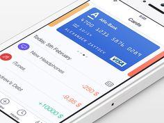 Walle Finance App [Light Version] #finance #list #card