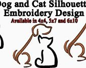 cat and dog silhouette - Google Search