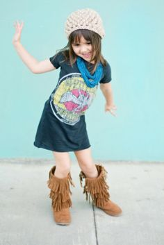 Cool DIY T-shirt Dress For Your Daugther | Kidsomania.Wicked cute