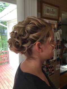 Updo for medium length hair.