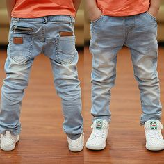 Newest style Light-color soft denim boys jeans 2017 Spring Autumn fashion kids jean for age 3 to 13 years old - Kid Shop Global - Kids & Baby Shop Online - baby & kids clothing, toys for baby & kid Jeans Fit, Boys Jeans, Blue Denim Jeans, Light Blue Skinny Jeans, Light Denim, Leggings Outfit Summer, Toddler Leggings, Jeans Price, Baby Shop Online