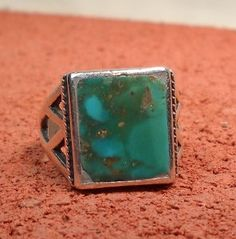 TURQUOISE &  SILVER Native American  1970's by ChristophCreations, $90.00