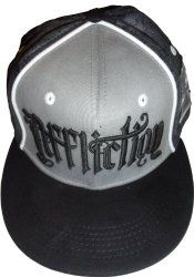 Men's Affliction Hat Baseball Cap Gothic with Cross Black/Grey on http://etrendzshop.com