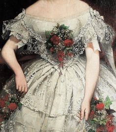 Portrait of A Lady by Joseph Hussenot,1856