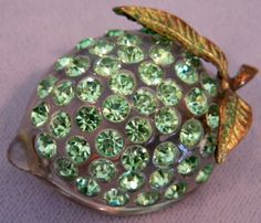 Forbidden Fruit Lime brooch.