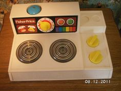 Fisher Price Stove - still at my parents house, doesn't look like the condition of this one though...