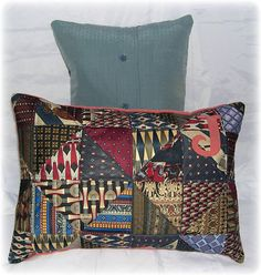 Memory Quilt Pillows Shirt & Tie Pillows Made to Order from Neck Ties and Dress Shirts by AWordFitlySpoken on Etsy https://www.etsy.com/listing/211501134/memory-quilt-pillows-shirt-tie-pillows