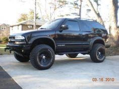2002 Chevy Blazer Modifications:Engine & Transmission:-K&N Cold Air Intake-MSD Ignition and wires-Optima Red Top-B&M Stage 2 Shift Kit S10 Truck, Lifted Chevy Trucks, Gm Trucks, Chevrolet Trucks, Pickup Trucks, S10 Blazer, Chevrolet Blazer, Chevy S10 Zr2, Chevy 4x4