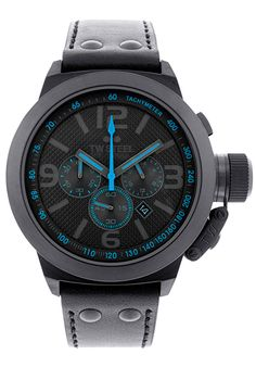 TW Steel TW904 Watches,Men's Cool Black Dial Calfskin Leather, Casual TW Steel Quartz Watches