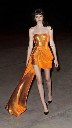 Strapless Mini Dress, Draped Dress, Sequin Dress, Metallic Dress, Sequin Bikini, Bikini Dress, Alex Perry, Orange Dress, Runway Fashion