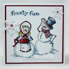 Christmas card made with OCL Mr. Frosty, Mrs. Frosty and Frosty Flakes