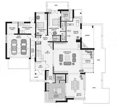 House Furniture Design, House Design, Indian House Plans, Three Bedroom House Plan, Modern House Facades, Simple House Plans, Luxury House Plans, Indian Homes, Facade House