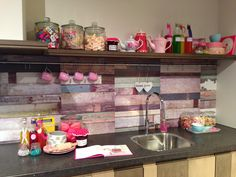 Candy colours kitchen
