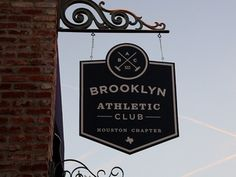 Bottom's Up, Brooklyn Athletic Club, sign, December 2012