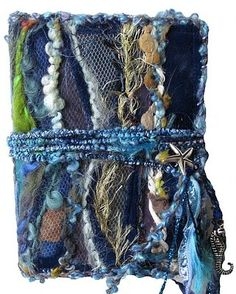 textile artist photography and mixed media - Carolyn Saxby Textile Art St Ives Cornwall Book Wraps, Fabric Book Covers, Fabric Books, Carolyn Saxby, Book Cover Page, Textiles Sketchbook, Creative Textiles, Crazy Patchwork, Fabric Journals