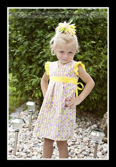 Girl's Dress PDF Sewing Pattern - The Katelin Dress Size 18m-5T (from Brynnberlee Designs at Etsy)