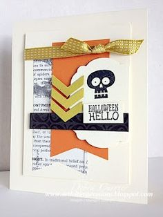 Love this layout. It's adorable with the new Halloween Hello stamp set. It could be used for many other cards too!