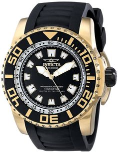 Invicta Men's 14663 Pro Diver Analog Display Swiss Quartz Black Watch *** Check this awesome product by going to the link at the image.