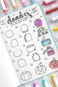 Best Bullet Journal Doodle Ideas For Halloween & Fall 2020 Crazy Laura Uncatego. - Best Bullet Journal Doodle Ideas For Halloween & Fall 2020 Crazy Laura Uncategorized Drawing doodles Bullet Journal Notebook, Bullet Journal Ideas Pages, Bullet Journal Inspiration, Art Journal Pages, Journal Prompts, Bullet Journal For School, Doodle Art For Beginners, Easy Doodle Art, How To Draw Doodle