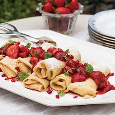 These Creole Cream Cheese Crêpes with Strawberry Compote are as delicious as they are beautiful.