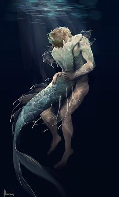 """We are lovers, you and I "" Charles' soft, slippery skin slides over Erik's as he embraces his human, sighing as he lays his chestnut head in the crook of his lover's neck. Erik can see the faint. Mermaid Boy, Anime Mermaid, Mermaid Kisses, Fanart, Sirene Tattoo, Mermaid Stories, Mermaid Drawings, Mermaid Artwork, Cherik"