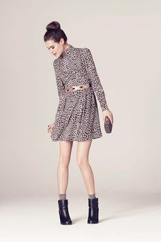Swish and swoosh about in this Oasis leopard print dress for AW13. #autumncovered