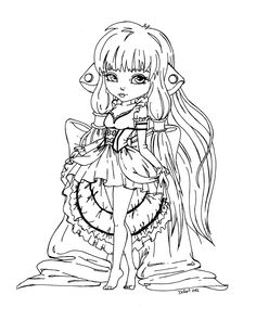 Chii from Chobits - lineart by *JadeDragonne on deviantART