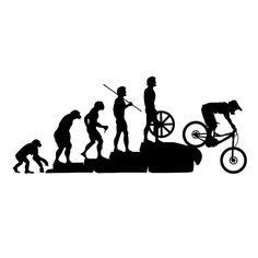 22.8*9.5CM Interesting Mountain Bike Downhill Car Stickers Covering The Body Cartoon Vinyl Decals Black/Sliver