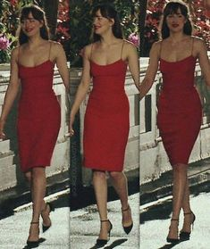 Image result for anastasia steele fifty shades darker red dress
