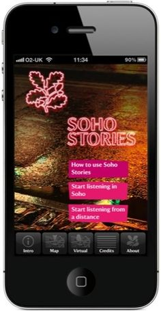 National Trust Soho Stories app on an iPhone
