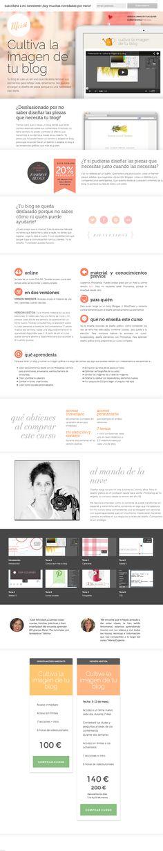 Nueva página para mi curso online de diseño Cultiva la imagen de tu blog #blog #diseño #cursosonline #videotutoriales #diseñografico #website #salespage Page Design, Web Design, Graphic Design, Page Template, Templates, Product Page, Page Layout, Website, Blog