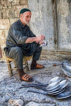 Craftman in Mardin, Turkey.